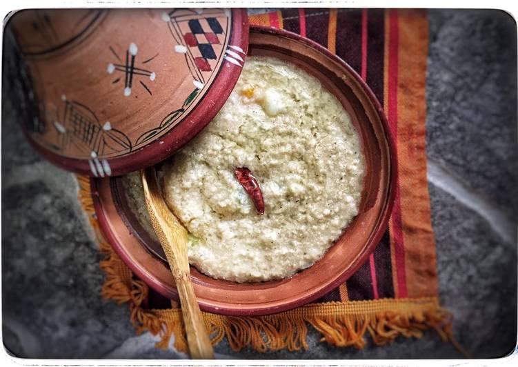 Une purée a la façon du «barkoukess »au blé entier
