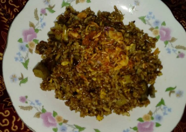 Nasi goreng rawon terong special