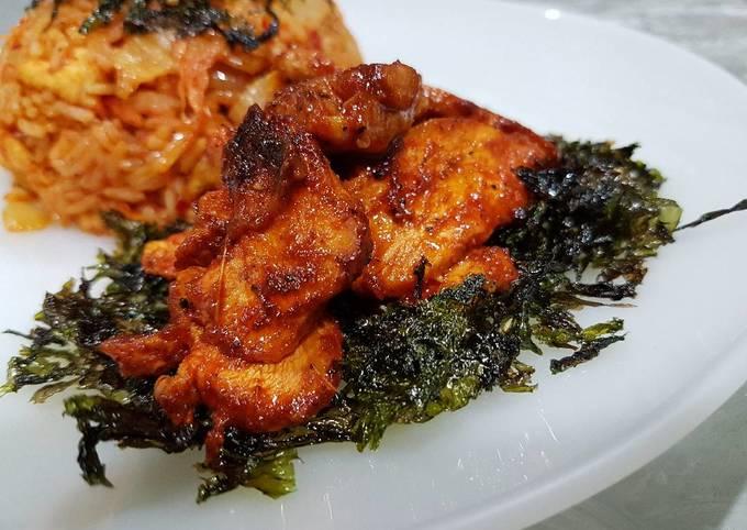 Korean Spicy Grilled Chicken (Dakgalbi)