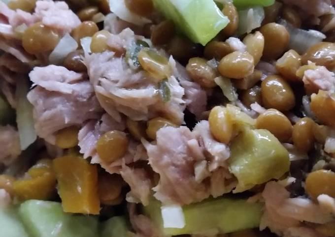 Linsen-Thunfisch-Salat