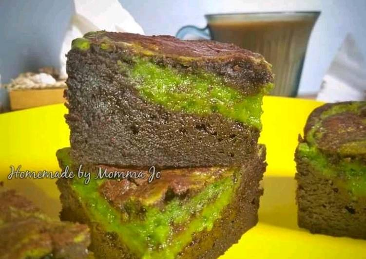 (Gluten free) Matcha Cheesecake Brownie