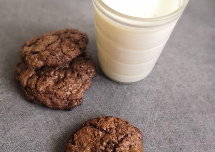 Cookies chocolat, amandes, noix de coco râpée