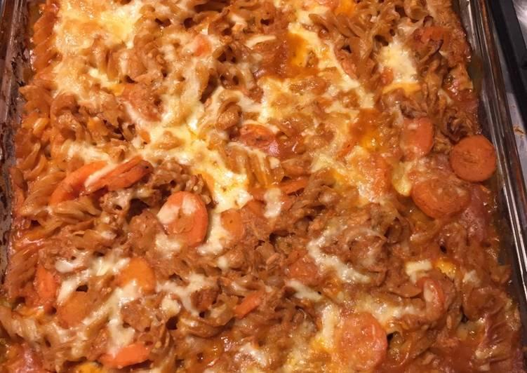 25 Minute Simple Way to Prepare Royal Cheat's tuna pasta bake