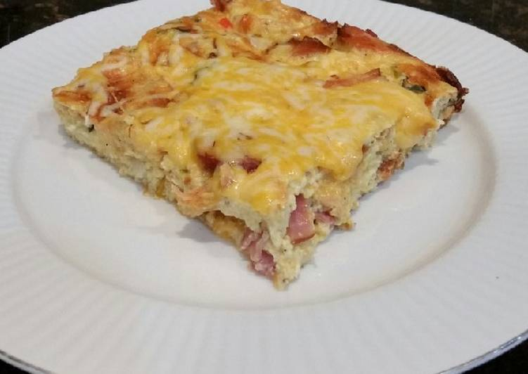 Recipe of Ultimate Brad's smoked salmon and sausage quiche