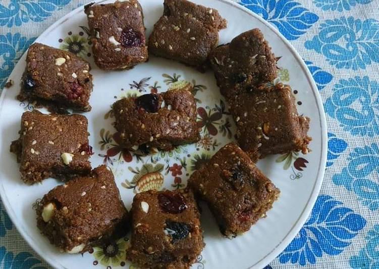 Ghee residue barfi or squares