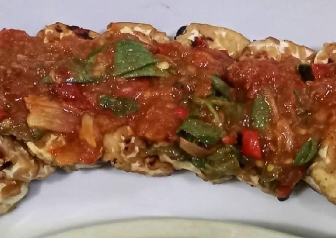 tempe bakar sambal kemangi - resepenakbgt.com