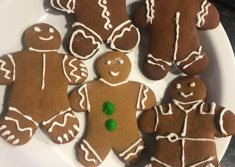 Steps to Prepare Homemade Gingerbread Man Cookies