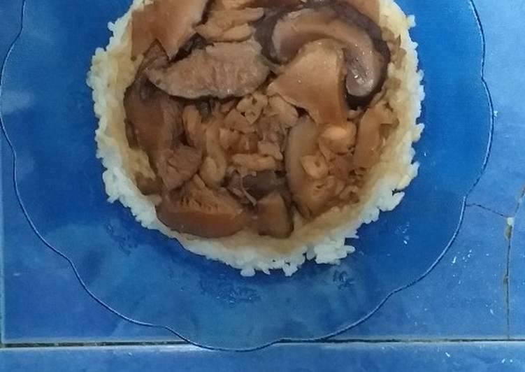 Nasi Tim Jamur Shitake (Simple Sederhana nun Seeeedap)