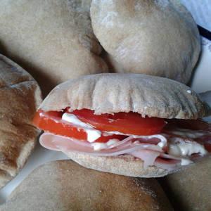 Pan Pita o Pan Árabe con harina integral