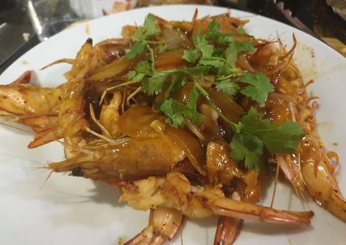 Recipe of GRILLED PRAWN with sweet sauce So Easy