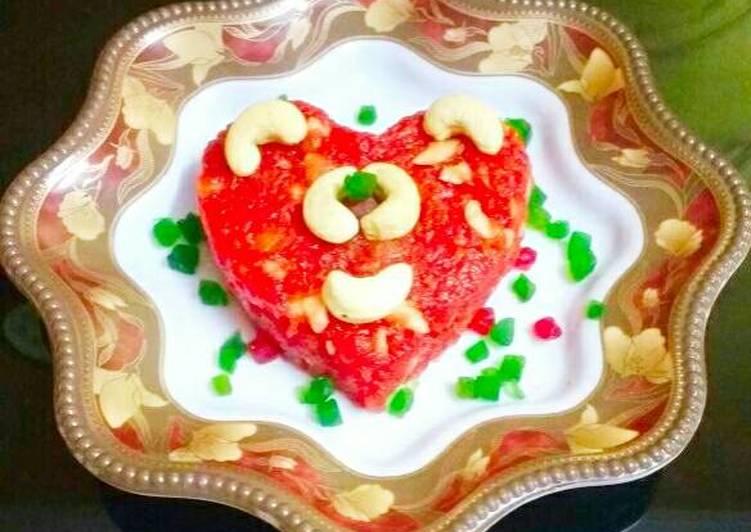 Strawberry Apple Halwa