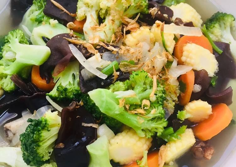 Sop jamur brokoli 🥦🥕🌽
