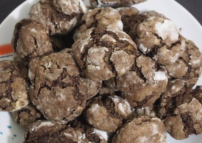 Crinkles au chocolat (biscuits de Noël)