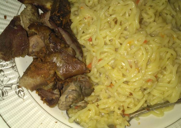 Indomie with roast meat