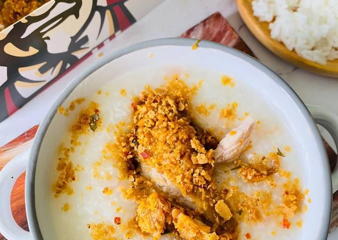 Bubur Nasi Sejuk Ayam KFC