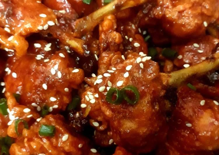 Chicken lollipops with honey glaze sauce😊