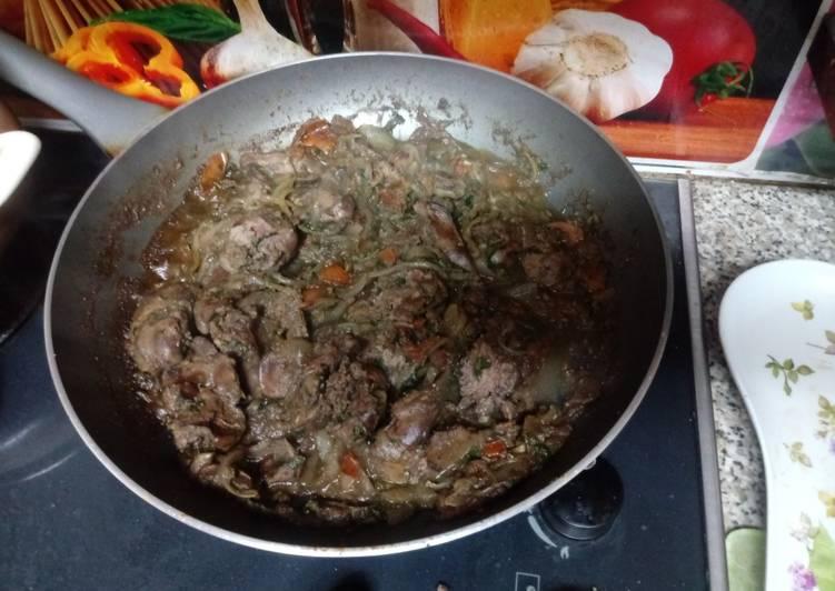 Spicy chicken liver