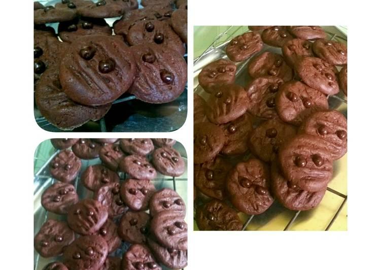 Cara Gampang Menyiapkan Cheewy double choco cookies. #kamismanis, Lezat Sekali