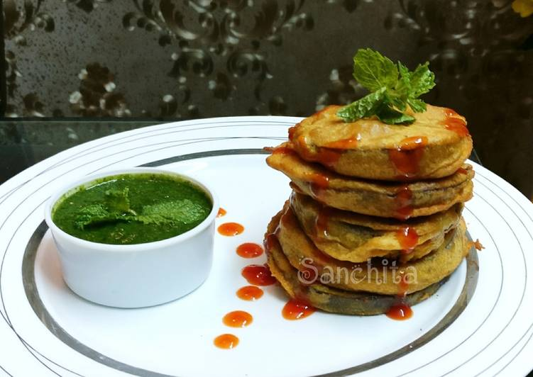 Top 100 Dinner Ideas Ultimate Brinjal Disc Fritters or Begun bhaja