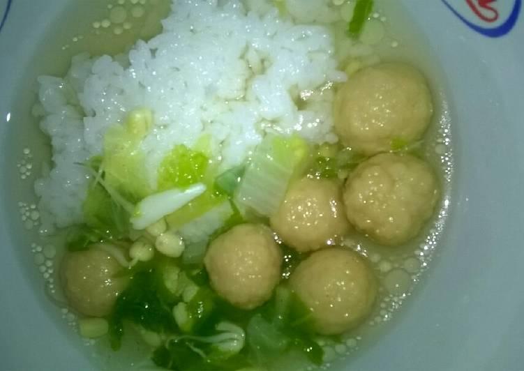 Day. 187 Sop Bakso Ayam Goreng (12 month+)