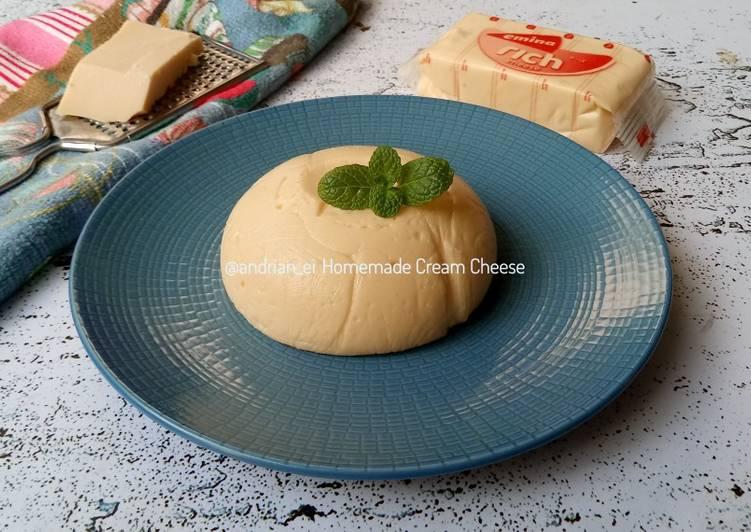 Homemade Cream Cheese - 3 Bahan Saja