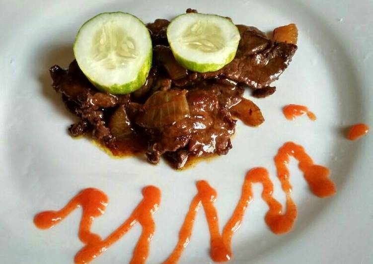 Resep Bistik sapi mentega lada hitam #kitaberbagi oleh Desi