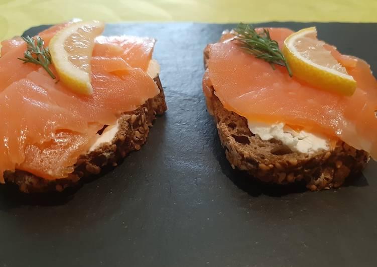 Recipe of Any-night-of-the-week Salmon open sandwich