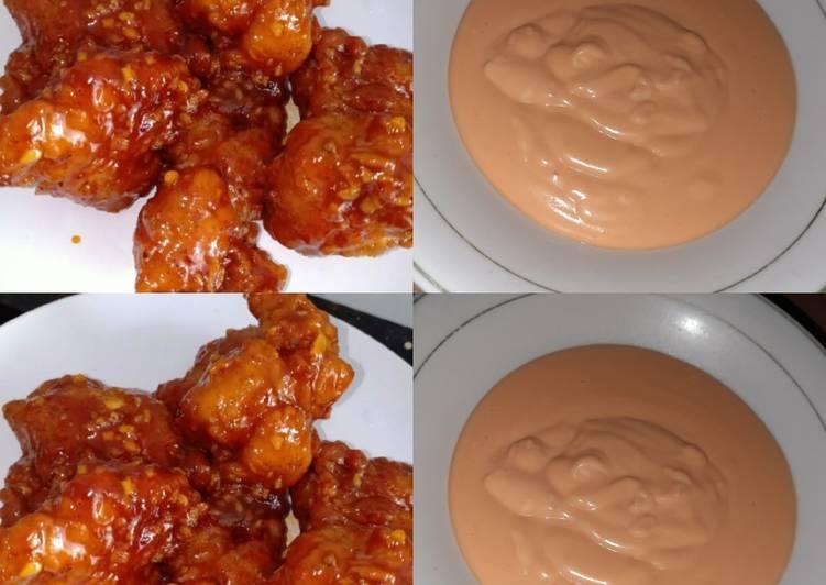Ayam Rycheese dan saos keju ala2