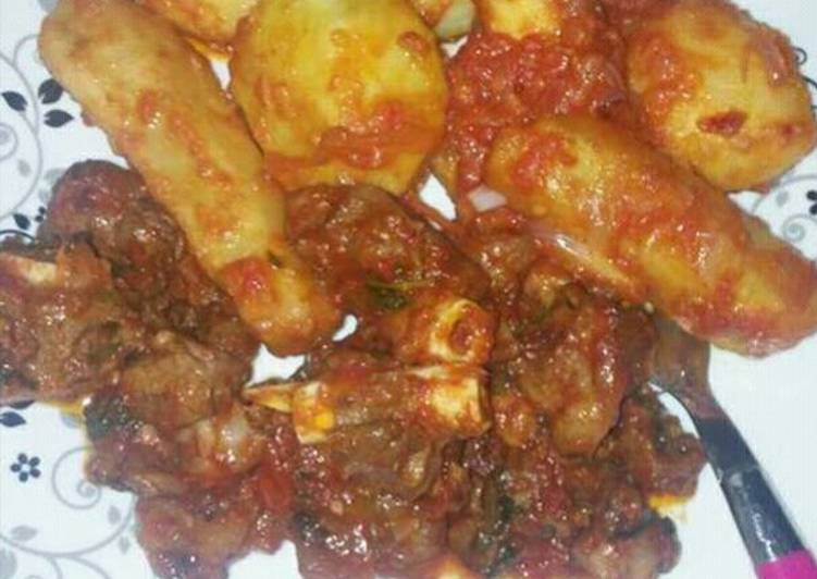 Step-by-Step Guide to Make Favorite Matoke served with wet fry beef