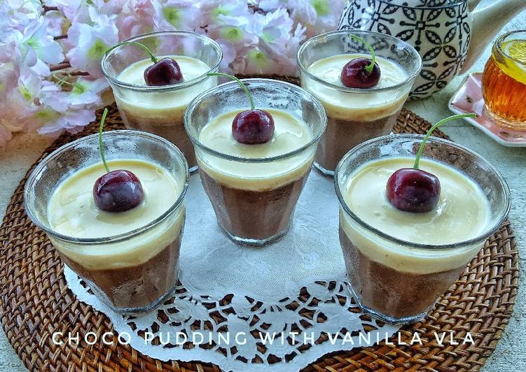 25.Puding Coklat Vla Vanilla #kamismanis #bikinramadanberkesan