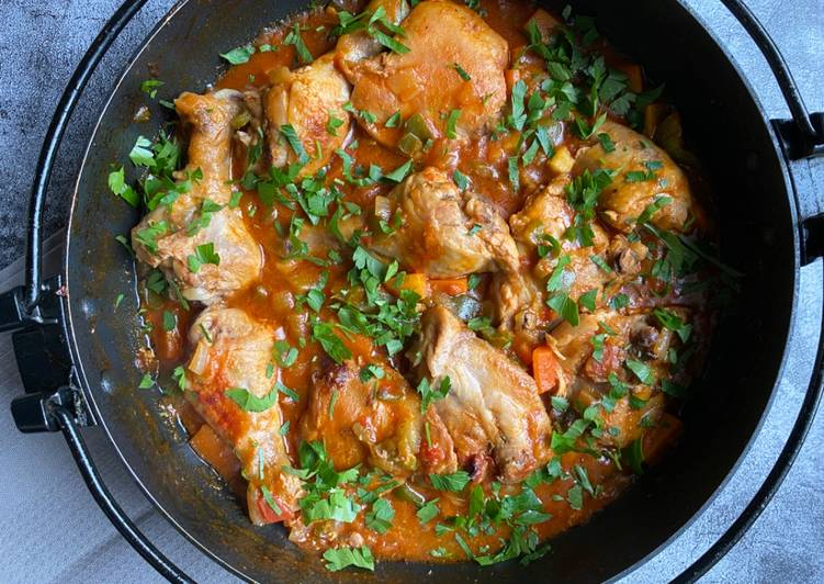 Simple Way to Make Quick African  chicken stew
