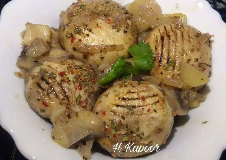 Recipe of Super Quick Homemade BBQ Mushrooms in Apple Mushroom Sauce
