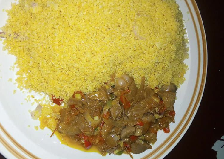 Simple Way to Prepare Top-Rated Morrocon couscous with kidney sauce