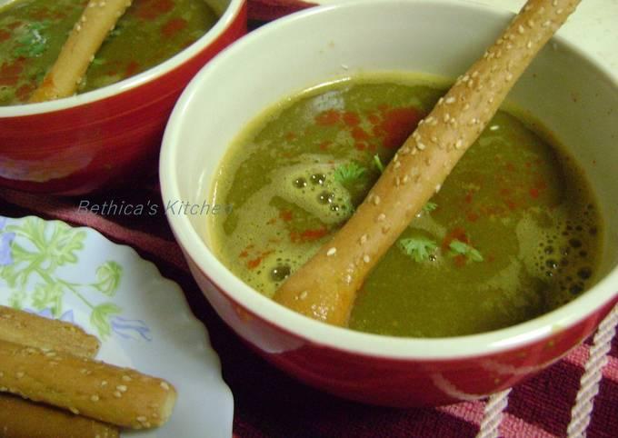 Palak Dal Shorba (Spinach-lentil Soup)