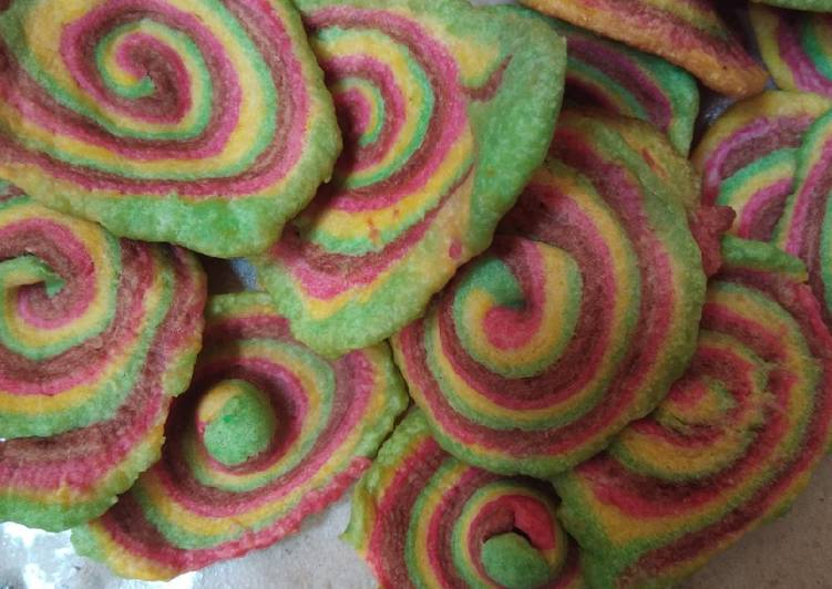 Resep Elephant ear rainbow alias kuping gajah pelangi😝 Anti Gagal