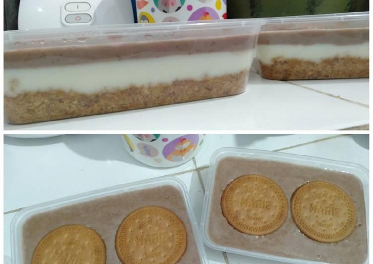 9 Resep: Dessert Box regal 3 lapis Kekinian