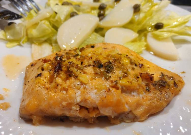 Butter and lemon salmon