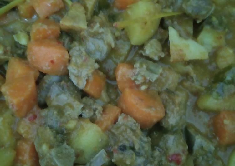 Sambal goreng hati ampela kentang wortel