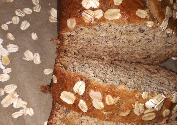 Simple Way to Make Super Quick Homemade Oatmeal Banana Bread