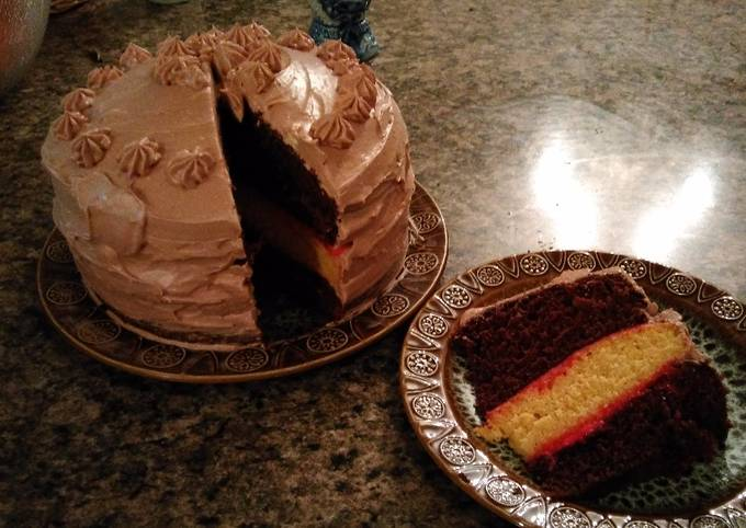 How to Prepare Perfect Chocolate Mousse 3 Layer Cake