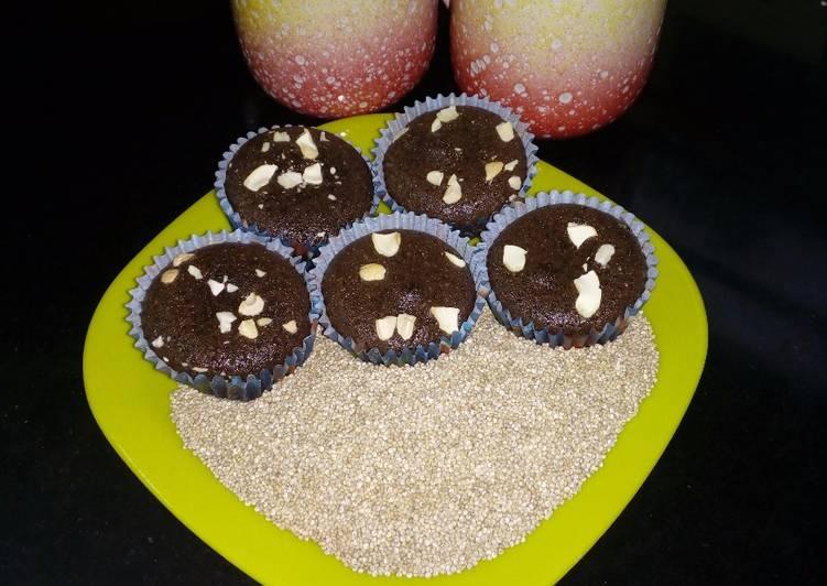 Turn to Food to Elevate Your Mood Quinoa Chocolate Cupcake Eggless