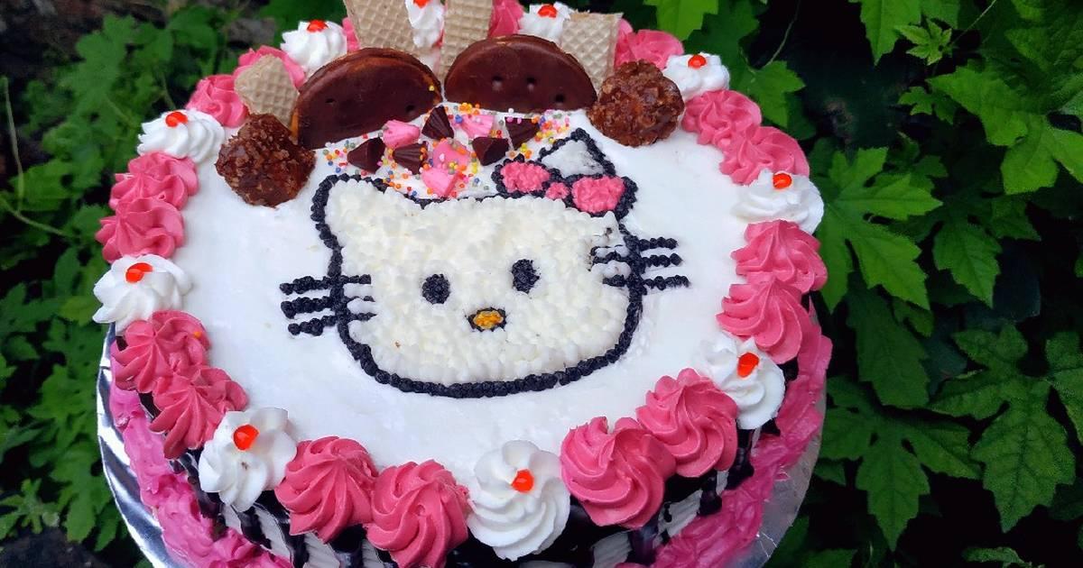 Resep Kue Ulang Tahun Hello Kitty Oleh Sitty Suprapto Cookpad