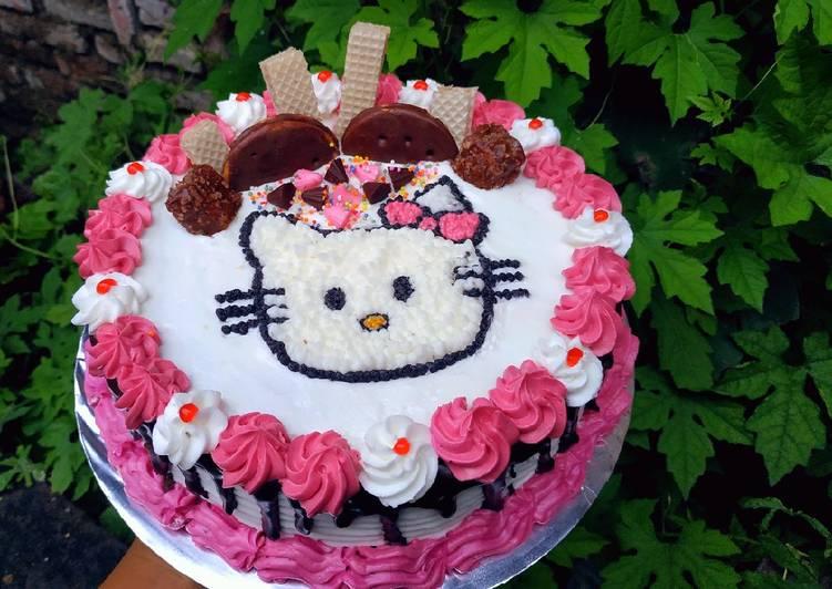 Bagaimana Cara Membuat Lezat Kue Ulang Tahun Hello Kitty