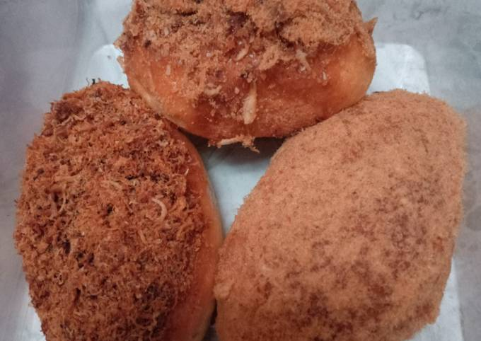 Floss bread a.k.a roti abon tanpa telor tapi tetep empuk