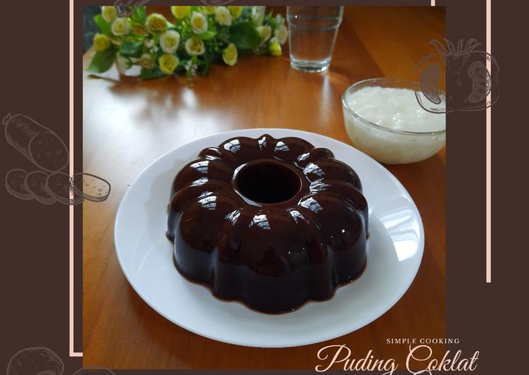 Simple Cooking: Puding Coklat dengan Vla
