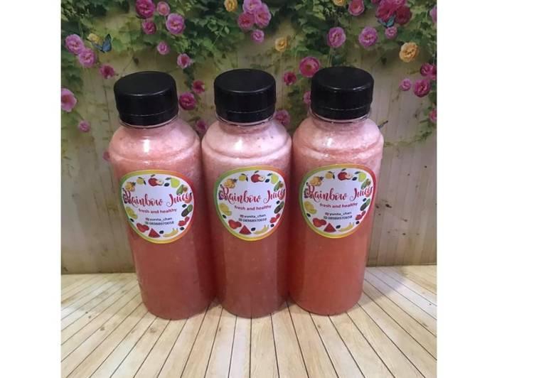 Cara membuat Diet Juice Tomato Carrot Pear Strawberry Cauliflower