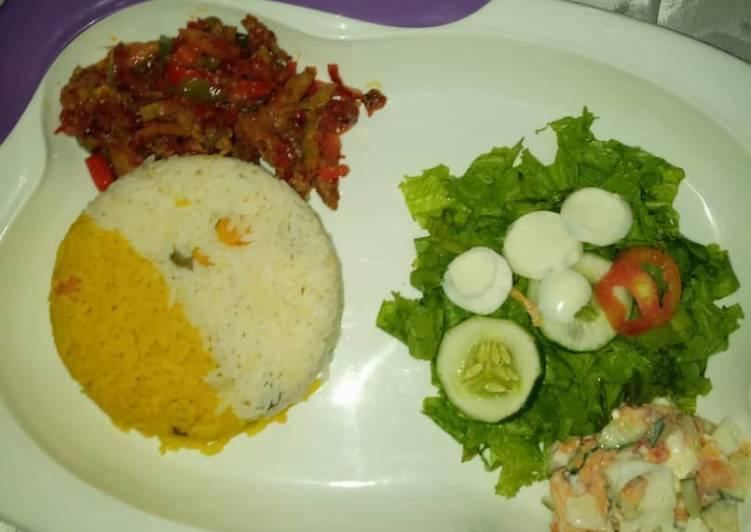 Recipe of Quick Veggie and Tumeric rice