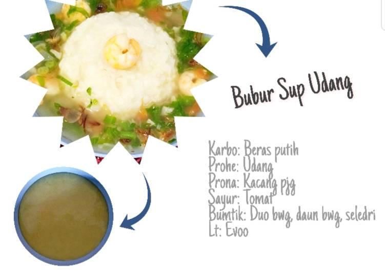 Mpasi 4* 6m (Bubur sup udang)