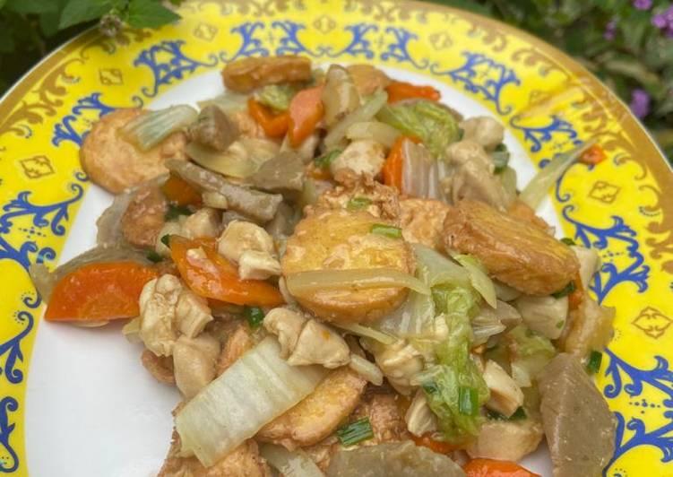 Capcay Tofu Kuah Kental