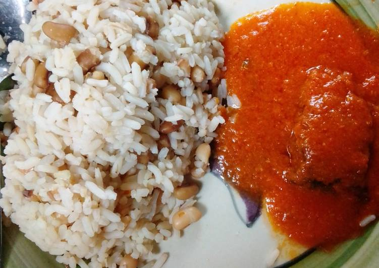 How to Prepare Homemade Rice🍚 and beans with fish soup